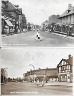 West Wickham ( Borough Of Bromley) 2 Postcards 1: High Street 2.station Road - Autres