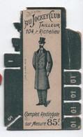 Bobine Ancienne Carton/AU JOCKEY CLUB /Tailleur / 104 Rue Richelieu /Maison MONTEL/Vers 1900-1920 MER69 - Vintage Clothes & Linen