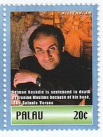 Palau 2000 - Salman Rushdie Is Sentenced To Death By Iranian Muslims Because Of His Book, The Satanic Verses - Palau
