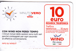Italy ,  WIND , Phonecard Prepaid  ,  Used - [2] Sim Cards, Prepaid & Refills