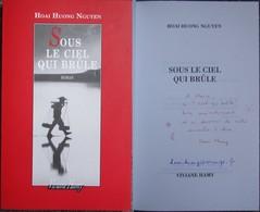 Hoai Huong Nguyen - Sous Le Ciel Qui Brule - Livre / Roman Avec  Envoi / Dedicace Autographe - Books, Magazines, Comics