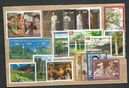 Polynésie, Lot De Timbres- Poste ** + Bloc Cote YT 71€80 - Collections, Lots & Séries
