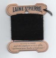 Bobine Ancienne Carton/Laine Saint Pierre/Pure Laine Pour Repriser/Lyon-Lille/Vers 1930-1950 MER70 - Otros