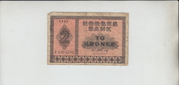 AB813. 2 Krone To Krone Norges Bank Norwegian Banknote 1943. - Norway
