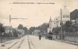 AMFREVILLE LA MIVOIE - L'Eglise Et La Route D'Eauplet - Autres Communes