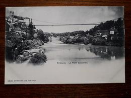 L17/241 Suisse. Fribourg. Le Pont Suspendu - FR Fribourg