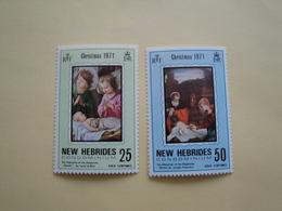 1972 Nouvelles Hébrides Yv 352/3 ** MNH Noël  Christmas  Cote 2.00 €  Michel 349/50 Scott 149/50  SG 152/3 - Nuovi