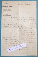 L.A.S 1861 Hector LEFUEL Architecte - Réunion Tuileries Au Louvre - Transport D'une Statue Lettre Autographe Versailles - Autographes