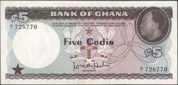 TWN - GHANA 6a - 5 Cedis 1965 E/1 - 728770 VF+ - Ghana