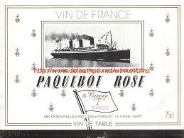 Paquebot Rosé - Ile-de-France 1927 - Bateaux