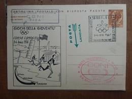 REPUBBLICA - Marcofilia - I.P. Con Risposta Pagata - Trasportata Dalla Staffetta Olimpica + Spese Postali - 6. 1946-.. Repubblica