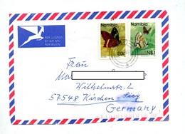 Devant De  Lettre Cachet  Sur Papillon - Namibie (1990- ...)