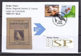 Portugal 2019 Carimbo Comemorativo Mariana Alcoforado Cartas Portuguesas Beja Lettres Letras Buchstaben Letters - Escritores