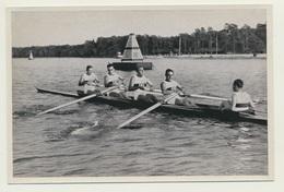 Sammelbild Vignette Olympia 1936 Rudern Deutschland Vierer Mit Steuermann - Remo