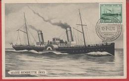 CP - Belgique - 1943 - Bateau à Roue - Le Marie Henriette 1893 .. - Barcos