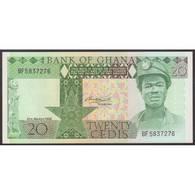 TWN - GHANA 21c - 20 Cedis 6.3.1982 Prefix BF - Toned UNC - Ghana