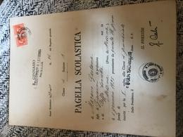 R. Liceo Ginnasio G. La Farina Pagella 1939-1940 2x Marche Da Bollo Regno 3l - Diplomi E Pagelle