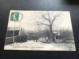 SAINT JEAN DE NIOST Route De Meximieux - 1912 Timbrée - France