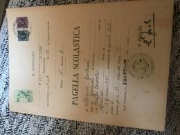 R. Liceo Ginnasio G. La Farina Pagella 1938-1939 2x Marche Da Bollo Regno 4+2L Marca Da Bollo Educazione Fisica Pnf 30l - Diplomi E Pagelle