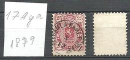 FINLAND FINNLAND 1879 Michel 17 A Y A O - Ungebraucht