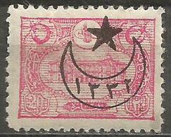 Turkey - 1916 Post Office Overprint 20pa  MH *    Mi 460   Sc 408 - 1858-1921 Ottoman Empire