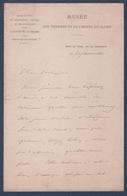 Correspondance Et Autographe De Mr Edmond De Sommerard,premier Directeur Des Thermes Et De L'Hôtel De Cluny. - Autographes
