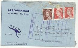 AREOGRAMMA--AIR  MAIL   D.E TRIBE  PROFESSOR OF ANIMAL HUSBANDRY UNIVERSITY  OF  MELBOURNE 1967 - Aerogrammes