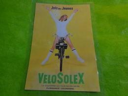 VELO SOLEX  JOIE DES JEUNES Pub Plastifie 19 X 27,5 Cm - Unclassified