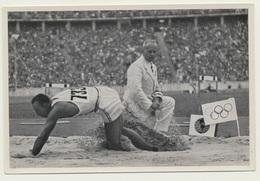 Sammelbild Vignette Olympia 1936 Leichtathletik Weitsprung Owens - Leichtathletik