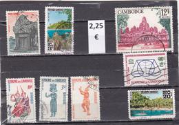 Camboya  -  Lote  8  Sellos Diferentes      - 4/1795 - Camboya