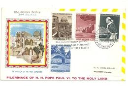 PILGRIMAGE  OF H.H. POPE  PAAUL  VI   THE  HOLY  LAND    1964  ARLINES EL AL  ISRAEL SERIES  N.  48 - Israele