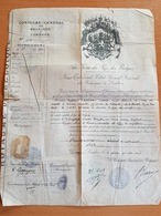 Passeport Consulat Général De Belgique à Londres 26/05/2019 Monsieur Englebert Cappuys Avocat à Louvain - Historical Documents