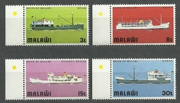 Malawi, 1975 (#242-45c), Ships Of Malawi, Navíos, Navires, Navi, Schiffe, Navios, Statki - 4v - Barche