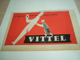ANCIENNE PUBLICITE L EAU DE VOTRE AQUILIBRE VITTEL 1958 - Alcohols