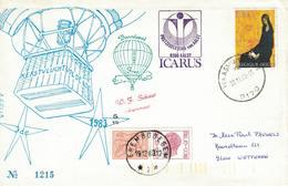 Courrier Par Ballon (montgolfière). 1983. Erembodegem =>Waasmunster. Pilote: Schaut.  Vol De Noël - Posta Aerea