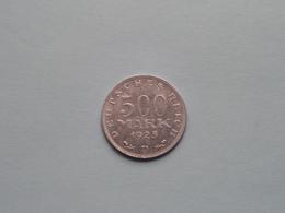 1923 D - 500 Mark / KM 36 ( For Grade, Please See Photo ) ! - [ 3] 1918-1933 : Republique De Weimar