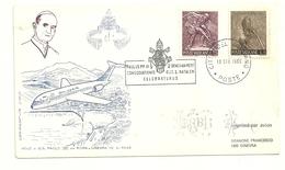 VOLO S.S.  PAOLO  VI  ROMA  GINEVRA  1969  X  GRANONE  FRANCESCO 1200  GINEVRA   1969 - Posta Aerea