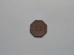 PINNEBERGER BANK 1917 ( 10 Pf. ) Kleingeldersatzmarke ( For Grade, Please See Photo ) ! - Noodgeld