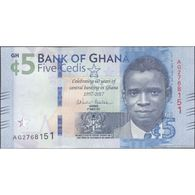 TWN - GHANA 43 - 5 Cedis 4.3.2017 60th Ann. Central Bank - Prefix AG UNC - Ghana