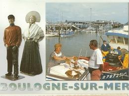 Boulogne Sur Mer - Marchande De Poissons-baptiste Et Zabelle-les Quais-cpm - Boulogne Sur Mer
