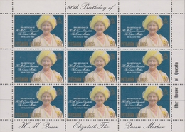 Pitcairn Islands SG 206 1980 80th Birthday Queen Mother, Sheetlet, Mint Never Hinged - Stamps