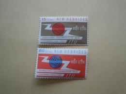 1965 Nouvelles Hébrides Yv 213/4 ** MNH -  I U T  Cote 6.00 €  Michel 208/9 Scott 108/9  SG 110/1 - Légende Anglaise