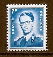BELGIE Boudewijn Bril * Nr 1575 * Postfris Xx * FLUOR  PAPIER - 1953-1972 Lunettes