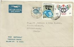 SALEM DT.  YERCAUD 636 601  INDIA    ST.  POSTALE  X  NOVARA    IT.   1981 - India