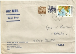 MEGHALAYA  CATHOLIC CHIESA  INDIA    ST.  POSTALE  X  NOVARA    IT.   1982 - India