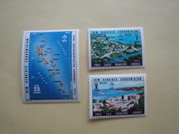 1976 Nouvelles Hébrides Yv 435/7 ** MNH -  Carte Port-Vila Cote 6.40 €  Michel 429/31 Scott 208/10  SG 211/3 - Légende Anglaise