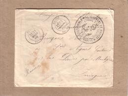 """INDOCHINE - CACHET HANOÏ , CACHET """" INFANTERIE DE MARINE , 2 EME REGIMENT DE MARCHE """" - 1889 - Indochine (1889-1945)"""