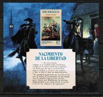 NICARAGUA   Scott # UNLISTED** USA BI-CENTENNIAL VF MINT NH IMPERFORATE Souvenir Sheet (SS-393) - Nicaragua