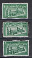 R.S.I.:  1944  EX. DUOMO  DI  PALERMO  -  £. 1,25  VERDE  N. -  RIPETUTO  3  VOLTE  -  SASS. 23 - 4. 1944-45 Repubblica Sociale