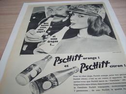 ANCIENNE PUBLICITE ANGE OU DRAGON LIMONADE PSCHITT  1957 - Afiches